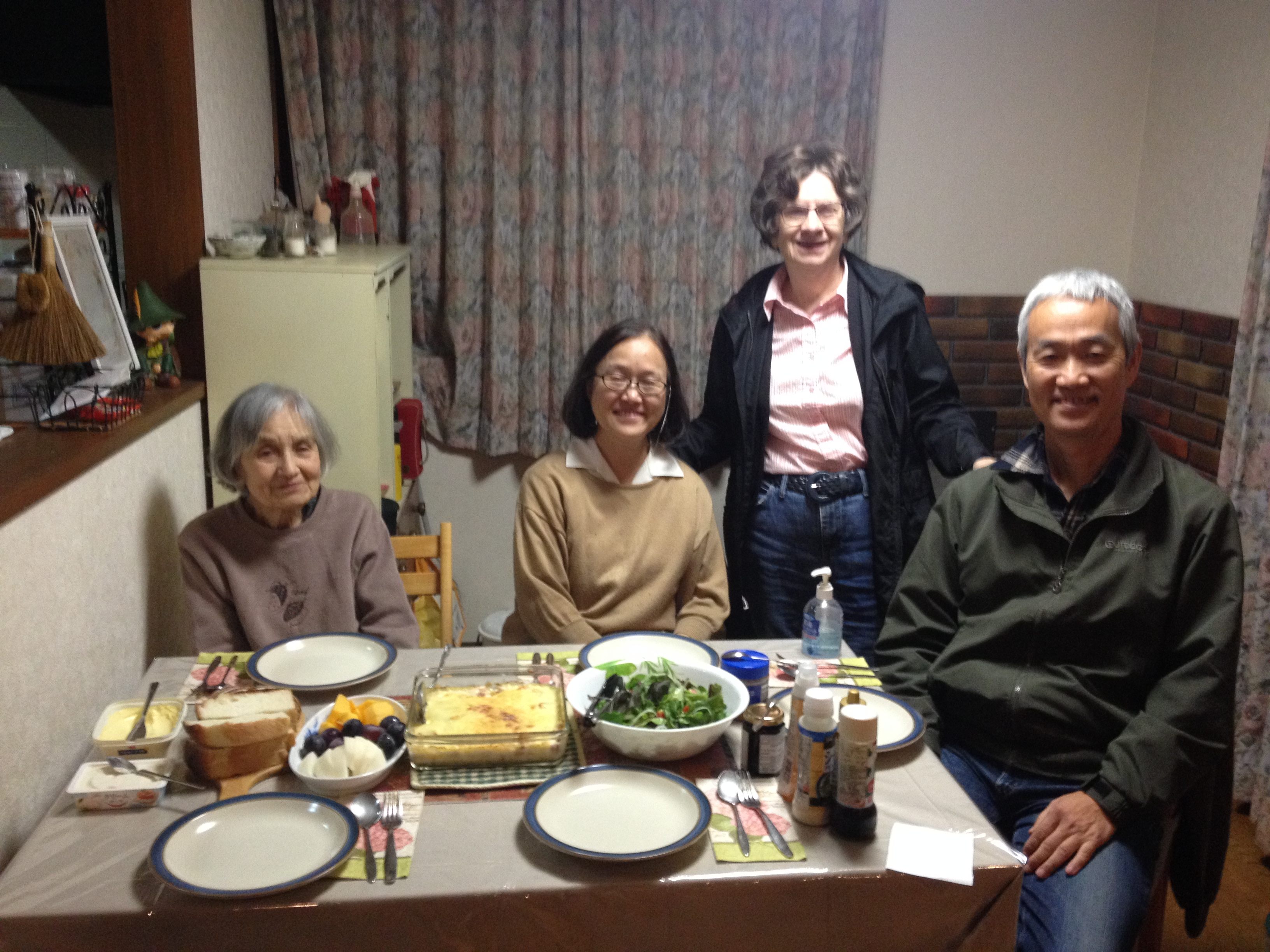 Visiting with friends in Tochigi Prefecture.