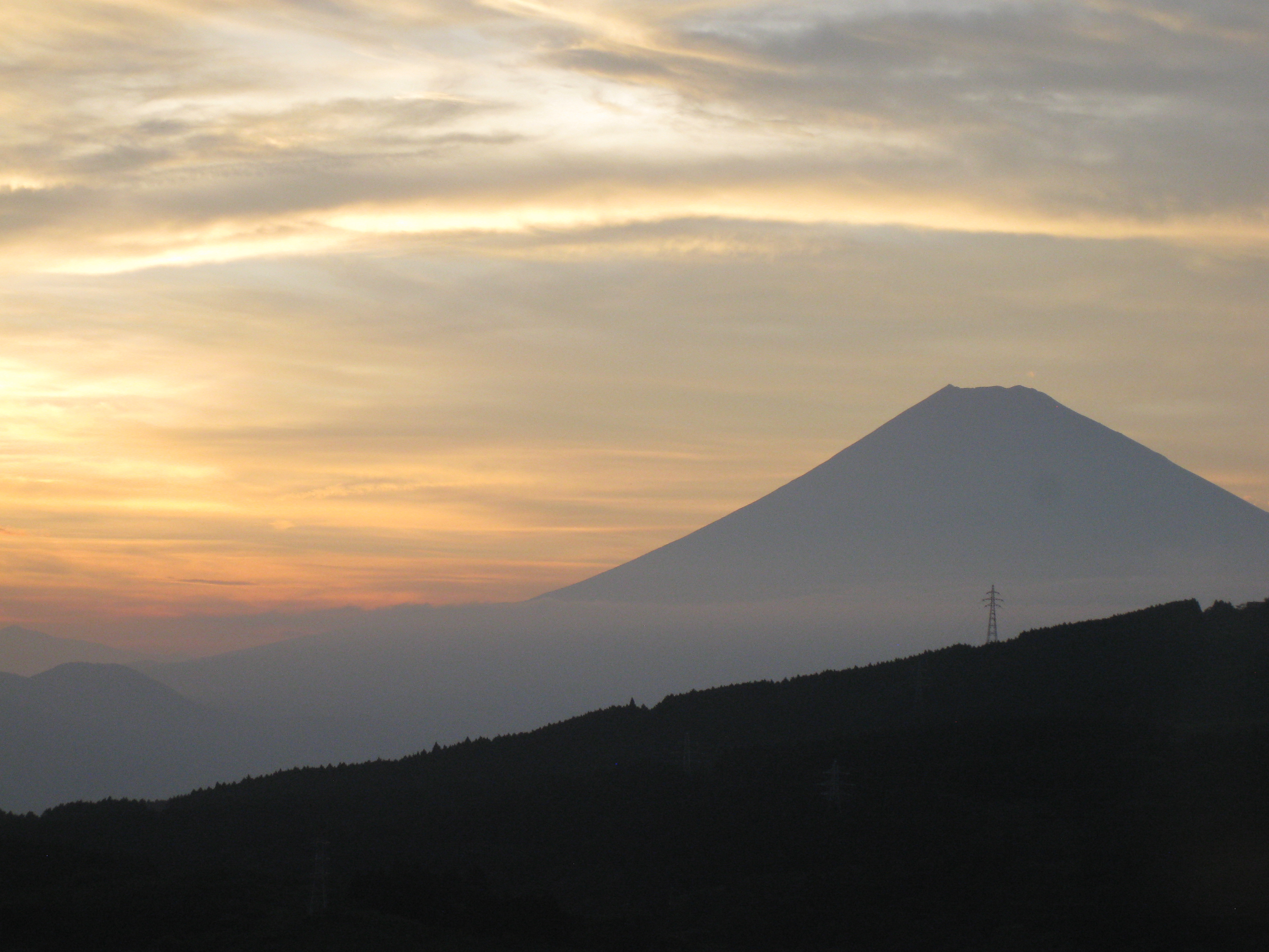 Early morning Mt. Fuji from Hakone