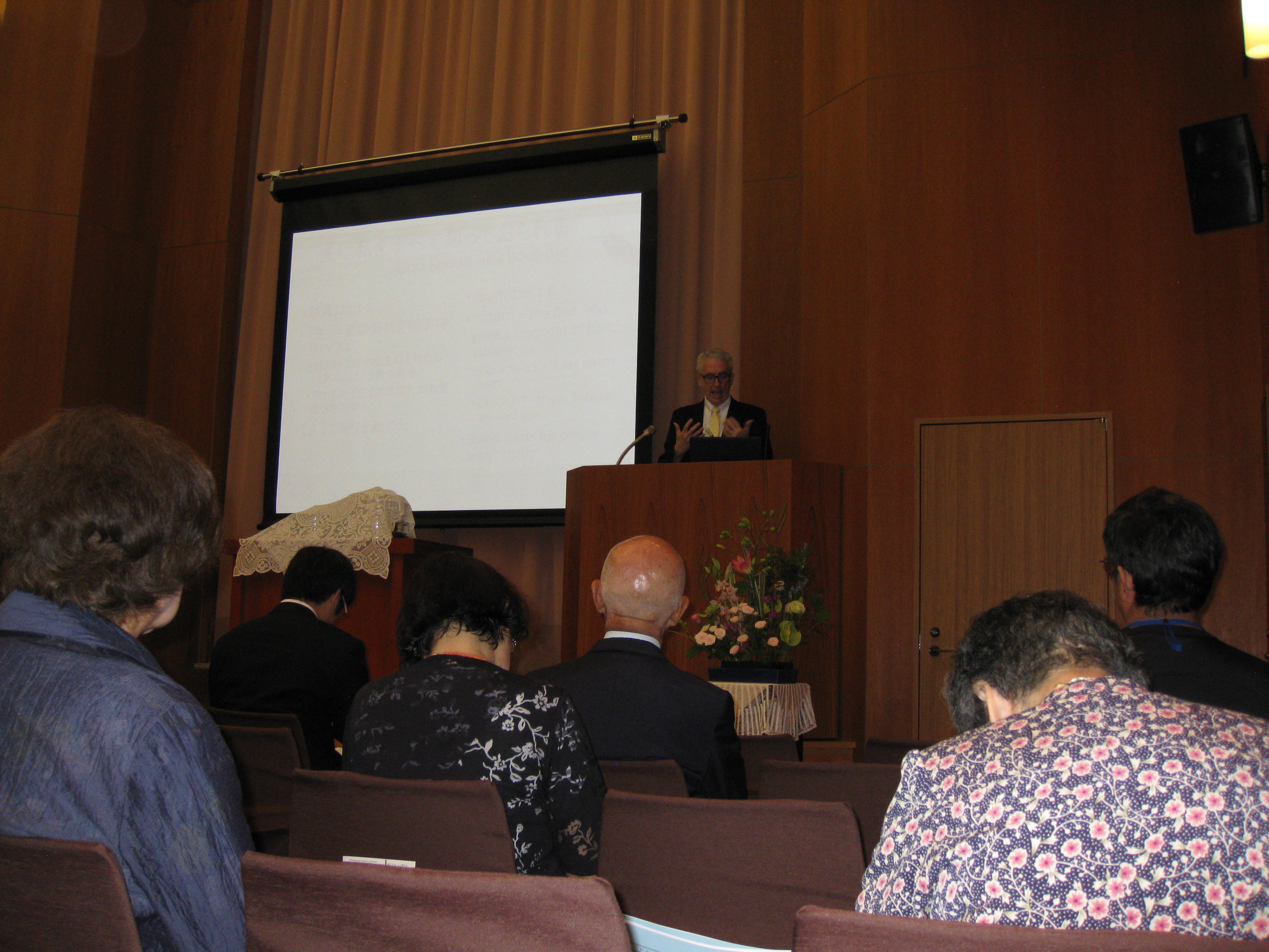 Preaching at Ochanomizu church assembly.