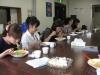 Noon meal together at Tachikawa
