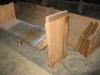 Testing stains on pews