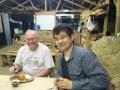 Mealtime fellowship: Marlin and Junnosuke