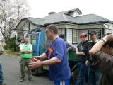 Jim Batten (blue shirt center) helping CRASH on Ibaraki Christian University campus.