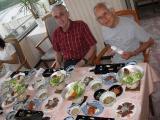 Dwight with one elder, Aikawa