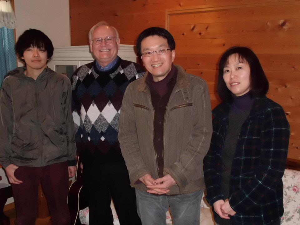 Toru, Shigeyuki, Yasuko - Son, Father, Mother with Marlin