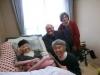Visiting Atsuko-san in hospital.