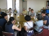 Workers meal after Agape meal for homeless in Mito