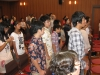Worship with Ochanomizu church with many young people
