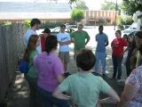 Group prayer time before leaving