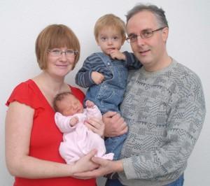 The Voser Family: Ivan, Lena, Ilja, Julia (Dec '11)