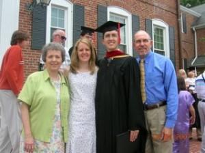 Bob and Billie Hesselrode at Jason's graduation.