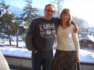 Ivan and Lena Voser, taken from their apartment balcony.