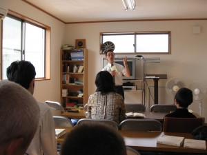 Masa preaching at the Yokota Japanese congregation, Oct 4 '09