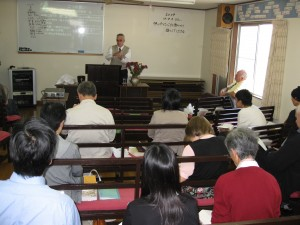 Worship with the Tomobe church, Oct 11 '09