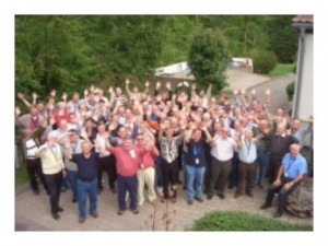 Participants in the Men's Retreat 2009 in front of the retreat center.