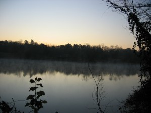Spring Creek lake at Wall Doxey State Park - 6:30 a.m.