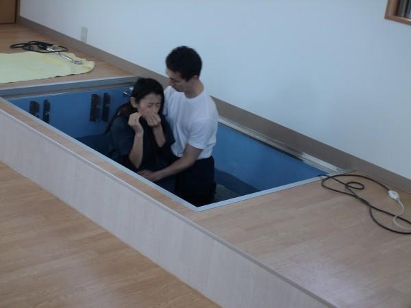 N. Sakai's baptism, November 29, 2009