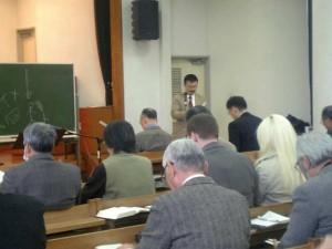 New Year's worship assembly at Mito church building, Ibaraki.