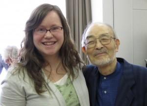 Sasha Ingle with Saito, minister for Taga church of Christ