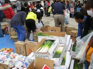 Distributing commodities and vegetables