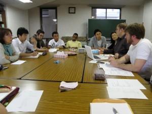 Prep meeting for Ishinomaki relief