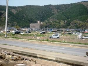 Landscape littered with debris