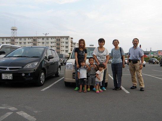 Presenting Car to Ishinomaki Family