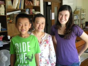 Sarah with Yoshiko & her son, Yuichiro