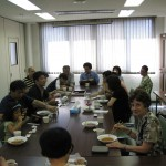 Fellowship meal following worship at Tachikawa