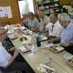 Meal with Takahagi members following worship