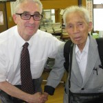 Dwight with 90 year old at Takahagi