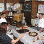 Tea Time at Uenohara following Worship