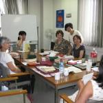 Teaching ladies' class at Tachikawa
