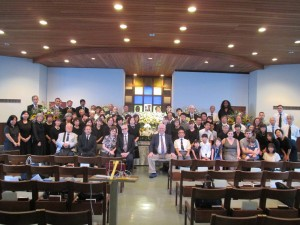 Memorial service for Debbie Carrell at the Tachikawa church building.