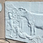 Monument to first cow killed for food in Japan