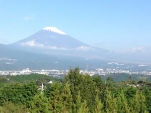 Mt. Fuji's first snow Oct 12, 2015