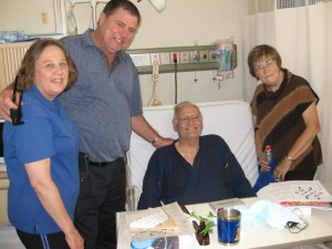 Visit with Marlin Ray in hospital.