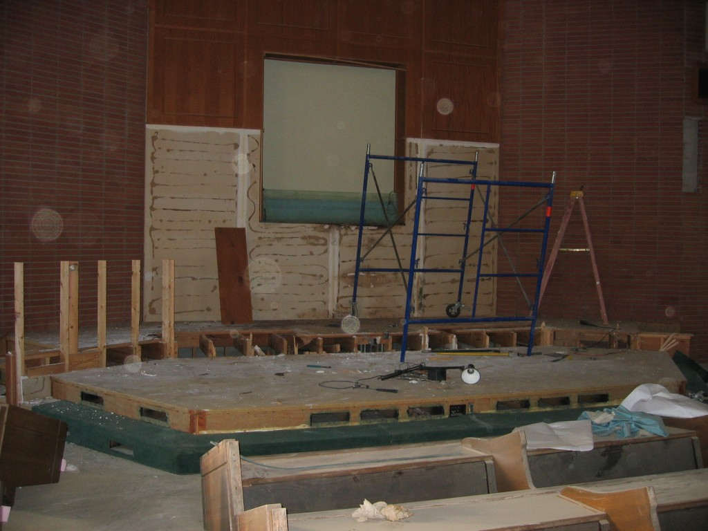 Front of auditorium gets a remodel