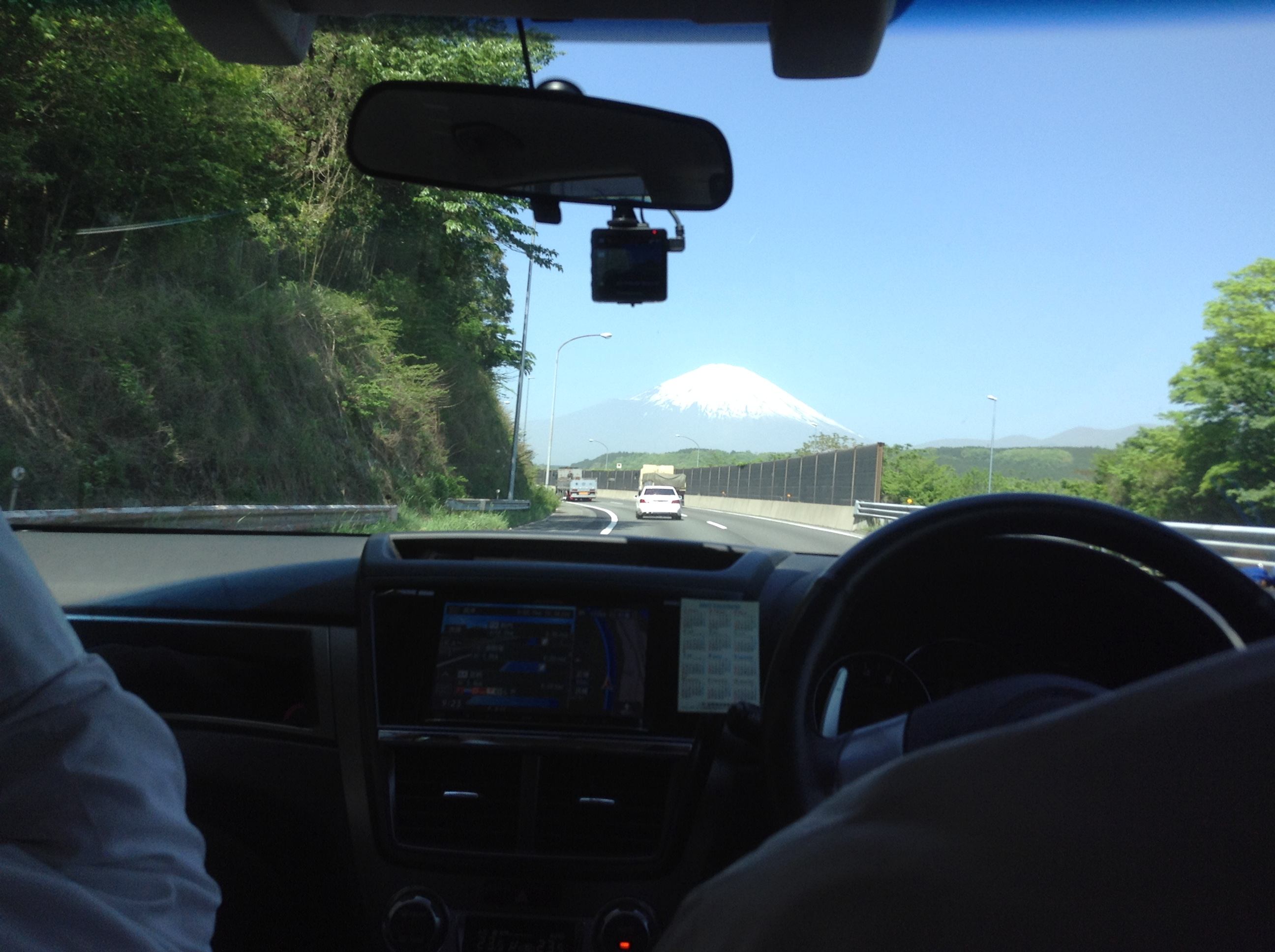Mount Fuji from new Tomei Expressway