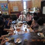 Tea time following worship with the Haruna congregation.