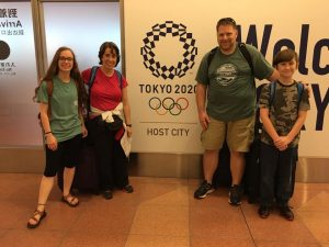 Fowler family arrive in Japan for two weeks.